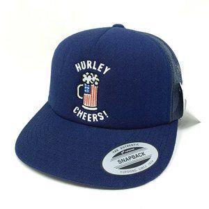 Hurley Cheers Bro American Flag Drink Snapback Hat